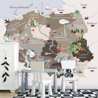 Tapeta mapa Polski
