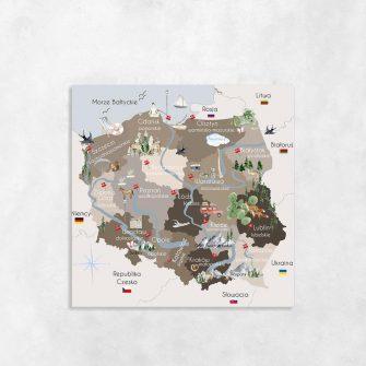 Obraz mapa Polski