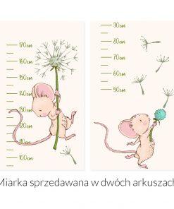 miarka wzrostu z myszką i dmuchawcem
