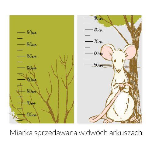 Miarka wzrostu z motywem myszki