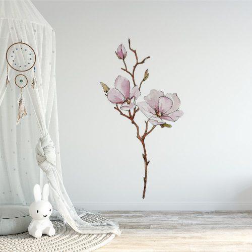 naklejka kwiat magnolii dla dziecka