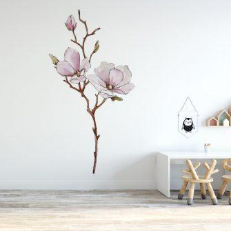naklejka kwiaty magnolii