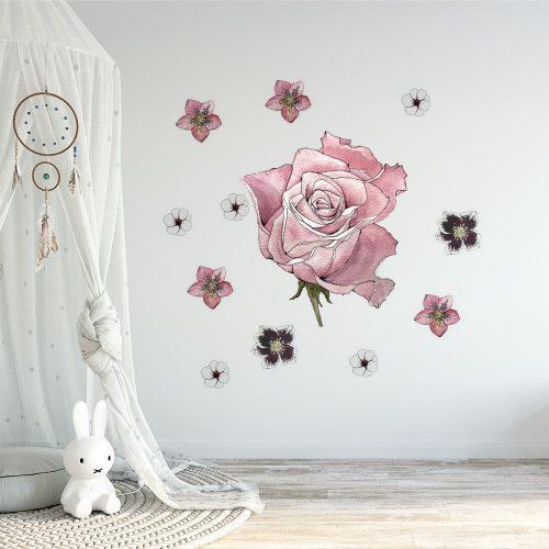 naklejka kwiaty na ścianie