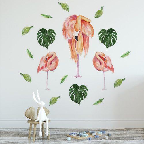 naklejka tropikalna flaming dekoracja