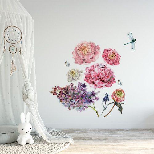 naklejka kwiaty w dziecięcym pokoju