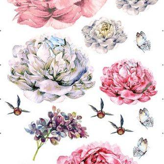naklejki z motywem kwiatów