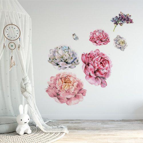 naklejka z motywem kwiatów