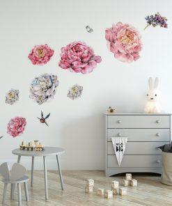 naklejka kwiaty jako ozdoba ściany
