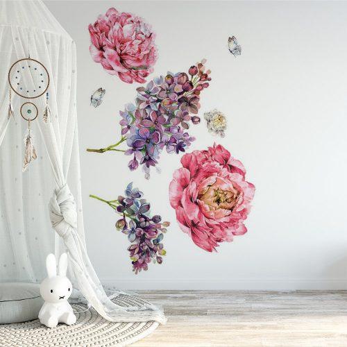 naklejka z kwiatami do pokoju