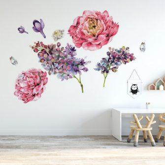 naklejka kwiaty wiosenne do pokoju dziecka
