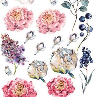 naklejka kwiatowe motywy dla dzieci