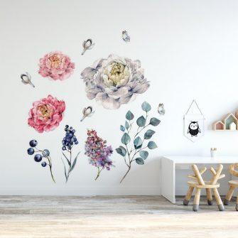 naklejka z pięknymi kwiatami