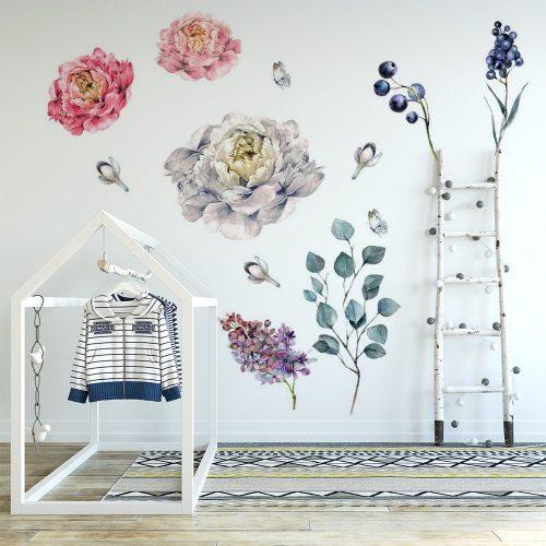naklejka kwiaty na ścianę dziecka
