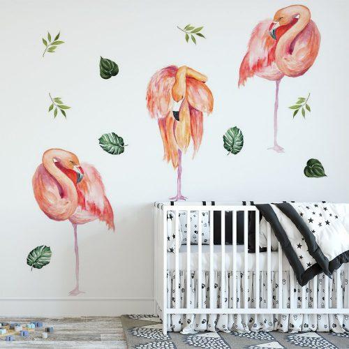 naklejka flamingi tropikalne
