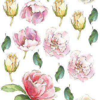 naklejka kolorowe róże