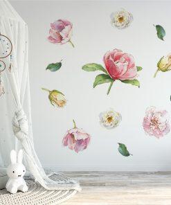 naklejka róże na ścianę pokoju dziecka