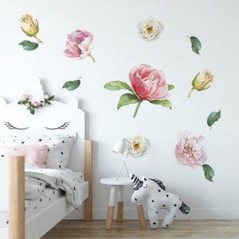 naklejka róże jako dekoracja ścienna