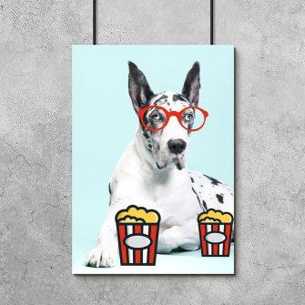 plakat zabawny pies