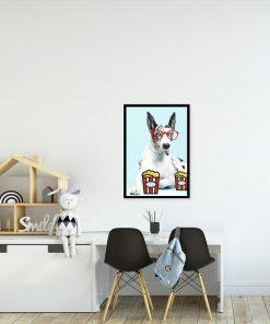 plakat zabawny pies na ścianę pokoju dziecka