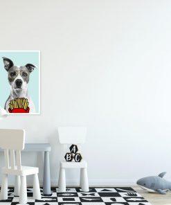 plakat śmiesznego psa