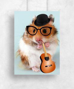 plakat chomik w okularach