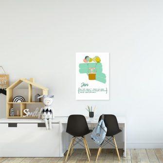 plakat myszka w balonie i mię dziecka