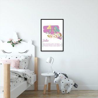 plakat syrenki i znaczenie imienia dziecka