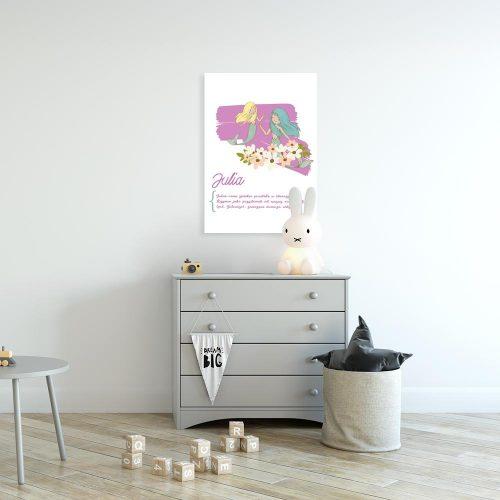 różowy plakat syrenki i geneza imienia dziecka
