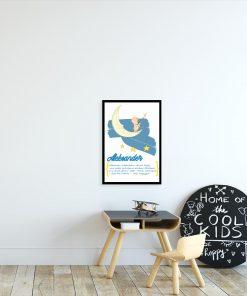 plakat niebieski nocne niebo i imię dziecka