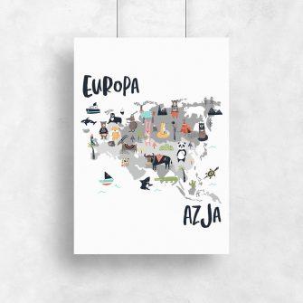 plakat azja europa
