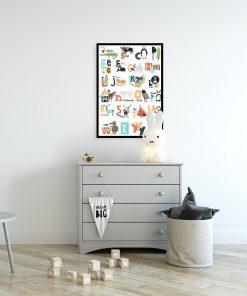plakat kolorowy alfabet
