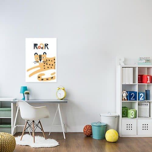 plakat dziecięcy z gepardem