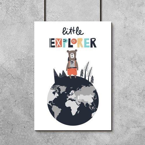plakat mały odkrywca