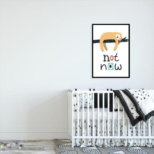 plakat dziecięcy z motywem leniwca