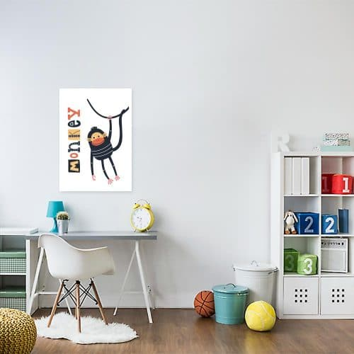 plakat małpka