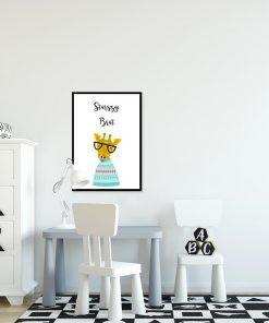 plakat z motywem żyrafy