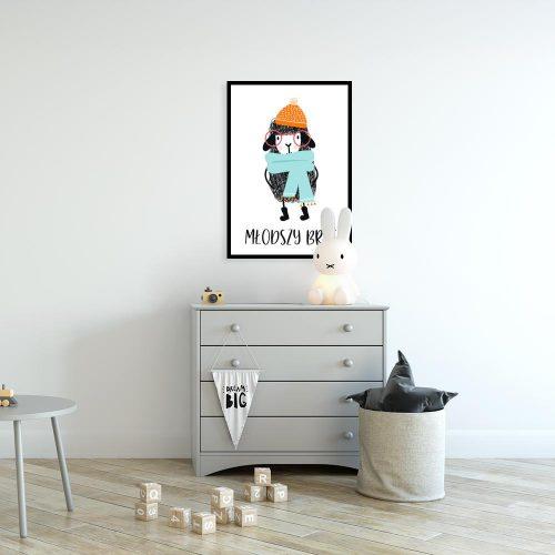 Plakat z motywem owieczki i napisu