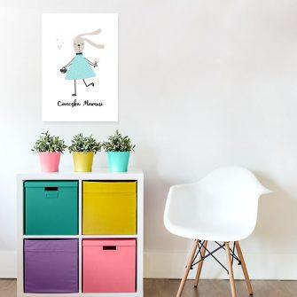plakat z motywem króliczka