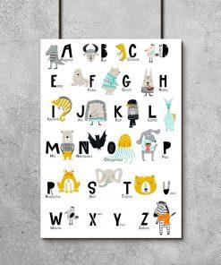 plakat literki