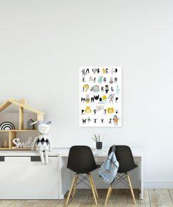 plakat alfabet ze zwierzętami