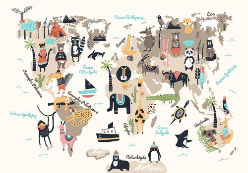 fototapeta beżowa zwierzęta świata