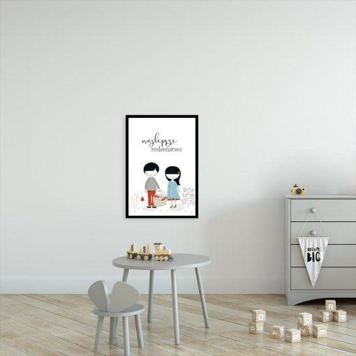 plakat najlepsze rodzeństwo
