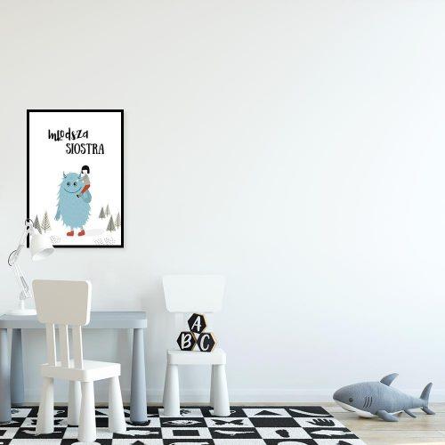 plakat stworek i dziewczynka
