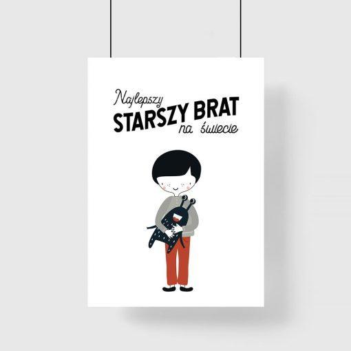 plakat z motywem chłopca