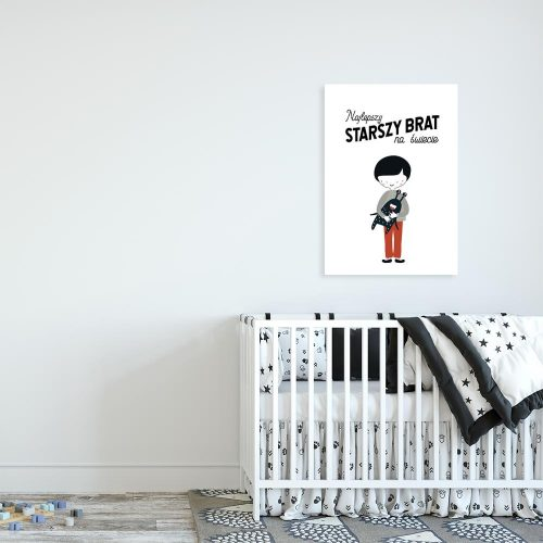 plakat chłopiec i ufoludek
