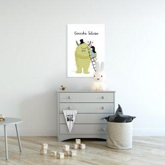 plakat z napisem córeczka tatusia