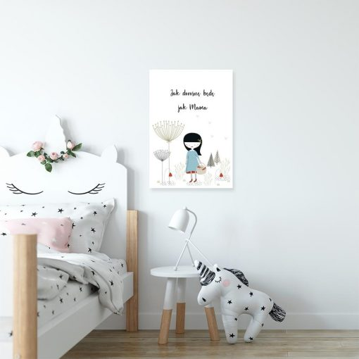 plakat dziewczynka z koszykiem