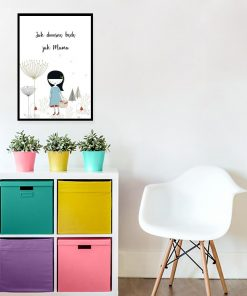 plakat dziewczynka z koszykiem i napis