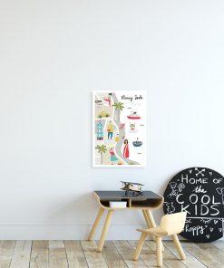 dziecięcy plakat z mapką nowego jorku