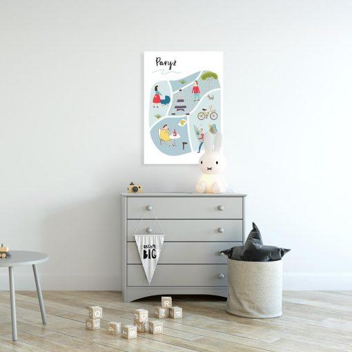 plakat mapka miasta